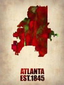 NAXART Studio - Atlanta Watercolor Map