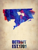 NAXART Studio - Detroit Watercolor Map
