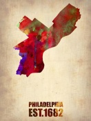 NAXART Studio - Philadelphia Watercolor Map