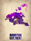NAXART Studio - Houston Watercolor Map