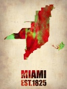 NAXART Studio - Miami Watercolor Map