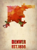 NAXART Studio - Denver Watercolor Map