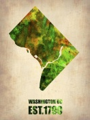 NAXART Studio - Washington DC Watercolor Map