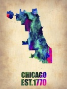 NAXART Studio - Chicago Watercolor Map