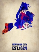 NAXART Studio - New York City Watercolor Map 1