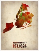 NAXART Studio - New York City Watercolor Map 2
