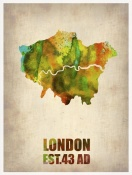 NAXART Studio - London Watercolor Map 1