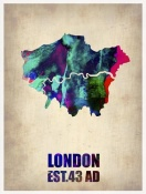 NAXART Studio - London Watercolor Map 2