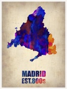NAXART Studio - Madrid Watercolor Map