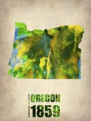 NAXART Studio - Oregon Watercolor Map