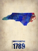 NAXART Studio - North Carolina Watercolor Map