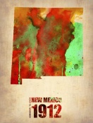 NAXART Studio - New Mexico Watercolor Map