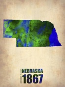NAXART Studio - Nebraska Watercolor Map