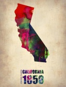 NAXART Studio - California Watercolor Map