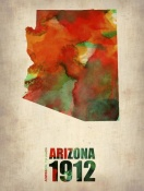 NAXART Studio - Arizona Watercolor Map