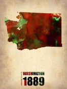 NAXART Studio - Washington Watercolor Map