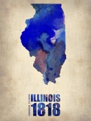 NAXART Studio - Illinois Watercolor Map