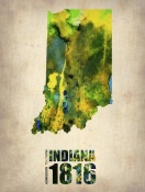 NAXART Studio - Indiana Watercolor Map