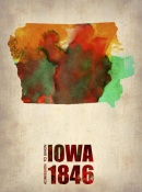 NAXART Studio - Iowa Watercolor Map
