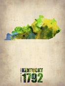 NAXART Studio - Kentucky Watercolor Map