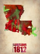 NAXART Studio - Louisiana Watercolor Map