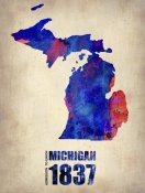 NAXART Studio - Michigan Watercolor Map