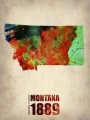 NAXART Studio - Montana Watercolor Map