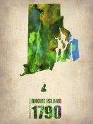 NAXART Studio - Rhode Island Watercolor Map