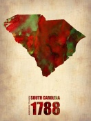 NAXART Studio - South Carolina Watercolor Map