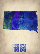NAXART Studio - South Dakota Watercolor Map