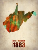 NAXART Studio - West Virginia Watercolor Map