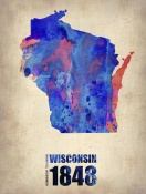 NAXART Studio - Wisconsin Watercolor Map