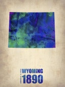NAXART Studio - Wyoming Watercolor Map