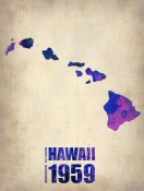 NAXART Studio - Hawaii Watercolor Map
