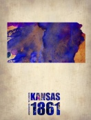 NAXART Studio - Kansas Watercolor Map