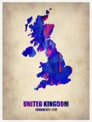 NAXART Studio - United Kingdom Watercolor Map