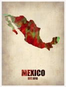 NAXART Studio - Mexico Watercolor Map