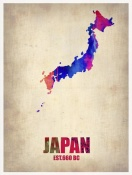 NAXART Studio - Japan Watercolor Map