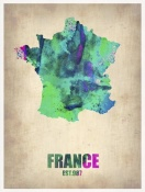 NAXART Studio - France Watercolor Map