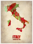NAXART Studio - Italy Watercolor Map
