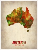 NAXART Studio - Australia Watercolor Map