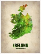 NAXART Studio - Ireland Watercolor Map