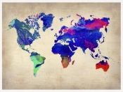 NAXART Studio - World Watercolor Map 2