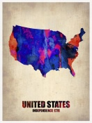 NAXART Studio - USA Watercolor Map 1
