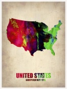 NAXART Studio - USA Watercolor Map 2