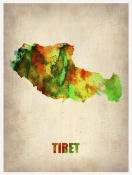NAXART Studio - Tibet Watercolor Map