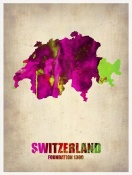 NAXART Studio - Switzerland Watercolor Map