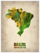 NAXART Studio - Brazil Watercolor Map