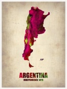NAXART Studio - Argentina Watercolor Map