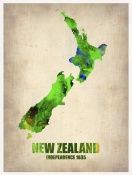 NAXART Studio - New Zealand Watercolor Map